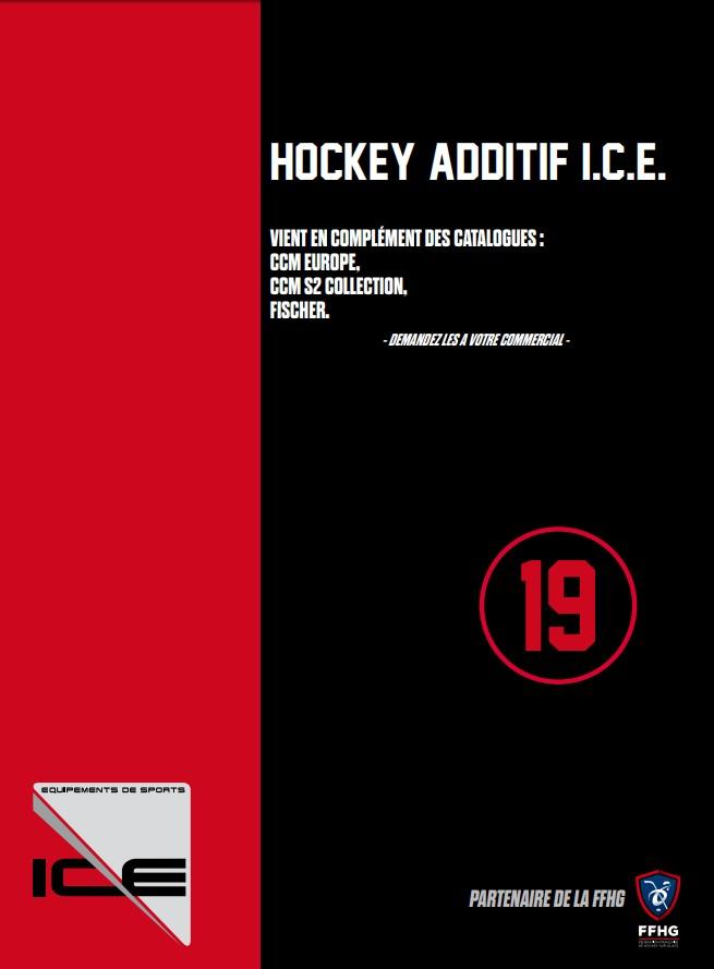 Couverture catalogue I.C.E. Additif Hockey 2019